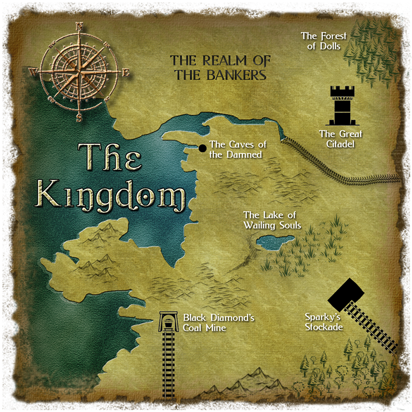 Legend of Black Diamond map of the Kingdom